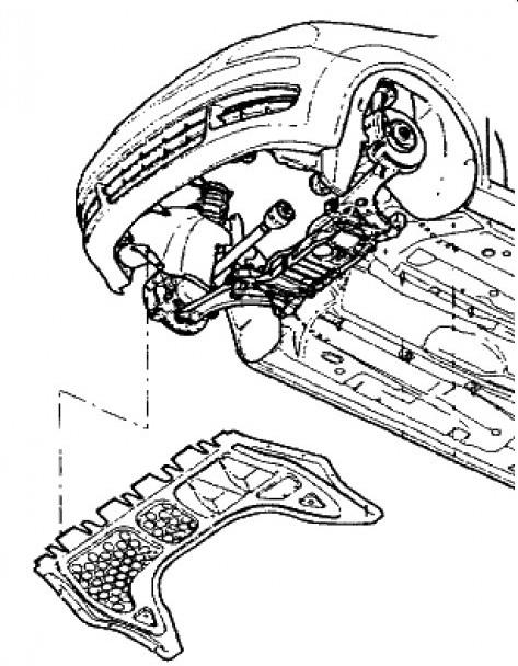 pohjamuovi moottorin alle golf  jetta  touran