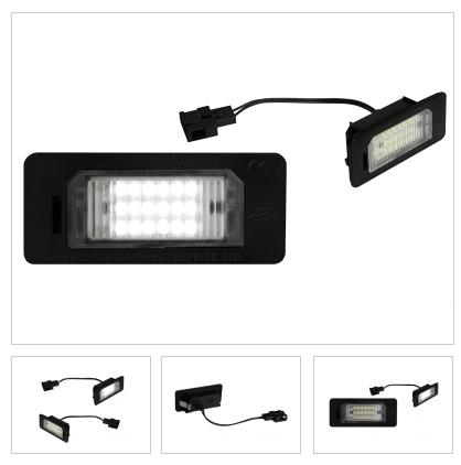 Audi Tt Interior Light Pack. licence plate light units